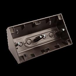 Puszka natynkowa narożna 2-krotna antracyt, metalizowany-251680