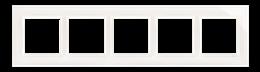 Ramka 5- krotna szklana biała perła-251542