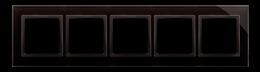 Ramka 5- krotna szklana zastygła lawa-251547