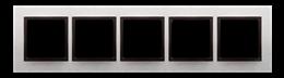 Ramka 5- krotna metalowa inox yang-251549