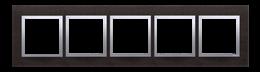 Ramka 5- krotna metalowa inox yin-251551
