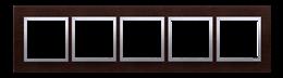 Ramka 5- krotna drewniana srebrne wenge-251554