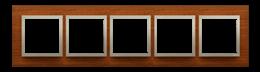 Ramka 5- krotna drewniana złoty orzech-251574