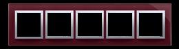 Ramka 5- krotna szklana kusząca śliwka-251544