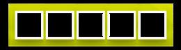 Ramka 5- krotna szklana limonkowy sorbet-251543