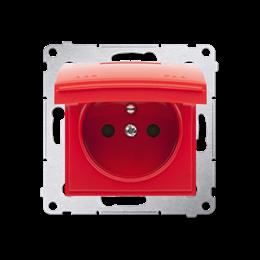 Pokrywa do gniazda wtyczkowego z uziemieniem - do wersji IP44- klapka w kolorze pokrywy czerwony-252450