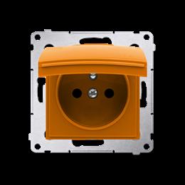 Pokrywa do gniazda wtyczkowego z uziemieniem - do wersji IP44- klapka w kolorze pokrywy pomarańczowy-252451