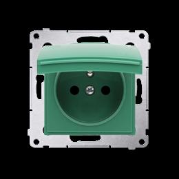 Pokrywa do gniazda wtyczkowego z uziemieniem - do wersji IP44- klapka w kolorze pokrywy zielony-252452