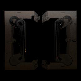 Puszka natynkowa składana, pojedyncza brąz mat, metalizowany-251664