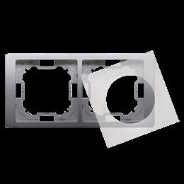 Ramka 2- krotna IP44 inox, metalizowany-253263