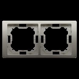 Ramka 2- krotna satynowy, metalizowany-253245