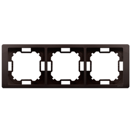 Ramka 3- krotna czekoladowy mat, metalizowany-253272