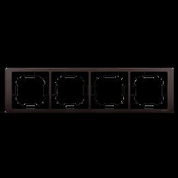 Ramka 4- krotna czekoladowy mat, metalizowany-253296