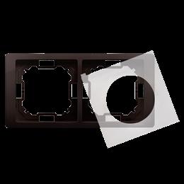 Ramka 2- krotna IP44 czekoladowy mat, metalizowany-253266