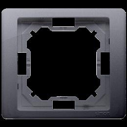 Ramka 1- krotna srebrny mat, metalizowany-253222