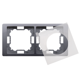 Ramka 2- krotna IP44 srebrny mat, metalizowany-253283