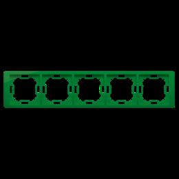 Ramka 5- krotna miętowy, metalizowany-253313