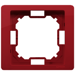 Ramka 1- krotna rubinowy, metalizowany-253224
