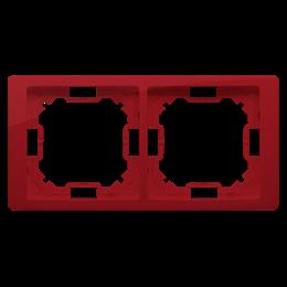 Ramka 2- krotna rubinowy, metalizowany-253250