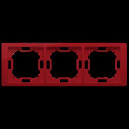 Ramka 3- krotna rubinowy, metalizowany-253275