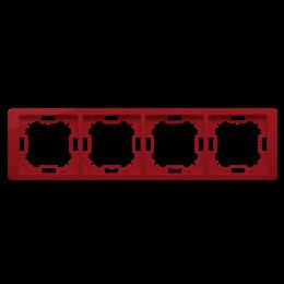 Ramka 4- krotna rubinowy, metalizowany-253299