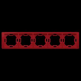 Ramka 5- krotna rubinowy, metalizowany-253314