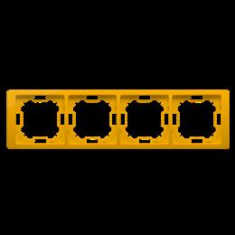 Ramka 4- krotna słoneczny, metalizowany-253300