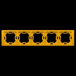 Ramka 5- krotna słoneczny, metalizowany-253315