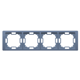 Ramka 4- krotna lawendowy, metalizowany-253301