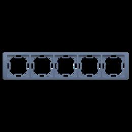 Ramka 5- krotna lawendowy, metalizowany-253316