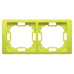 Ramka 2- krotna limonkowy, metalizowany-253253