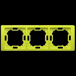 Ramka 3- krotna limonkowy, metalizowany-253278