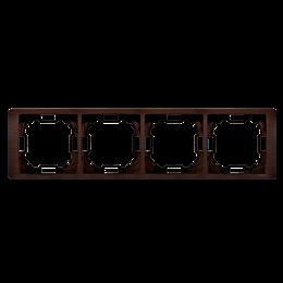 Ramka 4- krotna mahoniowy, hydrografika-253303