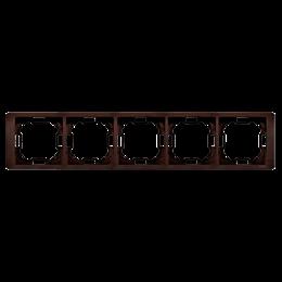 Ramka 5- krotna mahoniowy, hydrografika-253327