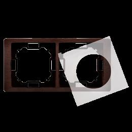 Ramka 2- krotna IP44 mahoniowy, hydrografika-253289