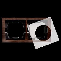 Ramka 2- krotna IP44 dębowy, hydrografika-253290