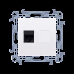Gniazdo komputerowe pojedyncze ekranowane RJ45 kategoria 6 biały-254518