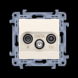 Gniazdo antenowe R-TV-DATA tłum.:10dB kremowy-254495