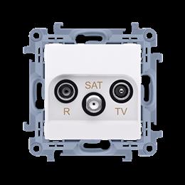 Gniazdo antenowe R-TV-SAT przelotowe tłum.:10dB biały-254490