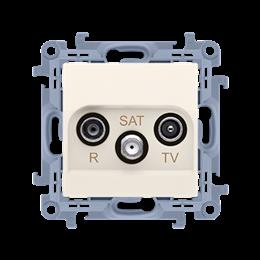 Gniazdo antenowe R-TV-SAT przelotowe tłum.:10dB kremowy-254491