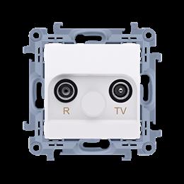 Gniazdo antenowe R-TV przelotowe tłum.:10dB biały-254486