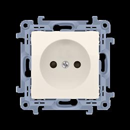 Gniazdo wtyczkowe pojedyncze bez uziemienia kremowy 16A-254415