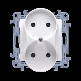 Gniazdo wtyczkowe podwójne bez uziemienia biały 16A-254418