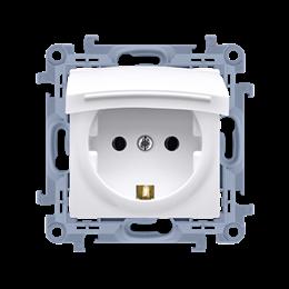 Gniazdo wtyczkowe pojedyncze do wersji IP44 - z uszczelką -  klapka w kolorze pokrywy biały 16A-254465