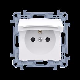 Gniazdo wtyczkowe pojedyncze do wersji IP44 - z uszczelką -  klapka w kolorze pokrywy biały 16A-254434