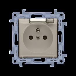 Gniazdo wtyczkowe pojedyncze do wersji IP44 z przesłonami torów prądowych - bez uszczelki -  klapka w kolorze transparentnym kre