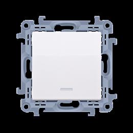 Przycisk pojedynczy zwierny bez piktogramu z podświetleniem LED biały 10AX-254399