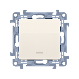 Przycisk pojedynczy zwierny bez piktogramu z podświetleniem LED kremowy 10AX-254400