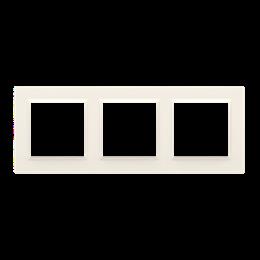 Ramka 3- krotna kremowy-254343
