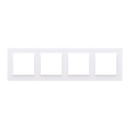 Ramka 4- krotna biały-254344
